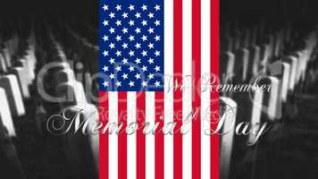 Memorial Day United States of America . American Flag With Cemet