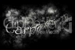 Carpe diem 3D Render - latin phrase means Capture the moment