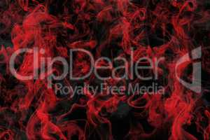Red Smoke Love Background On Black Solid 3D Illustration
