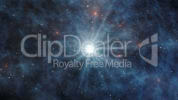 Universe with stars and galaxies in outer space 3D Rendering