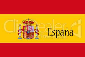 Spanish National Flag With Country Name Written On It 3D illustr