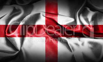 Flag of England Waving In The Wind, Grunge Looking. St George's