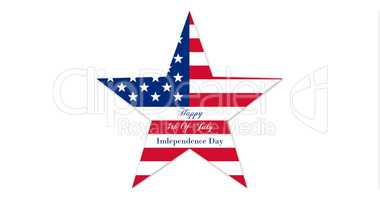 Happy 4th of July.  Independence Day, Star With United States of