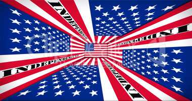 Independence Day. Happy 4th of July Concept. American Flag Persp