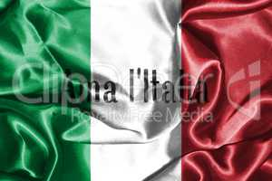 Italy Flag. Official colors and proportion. National Flag of Ita