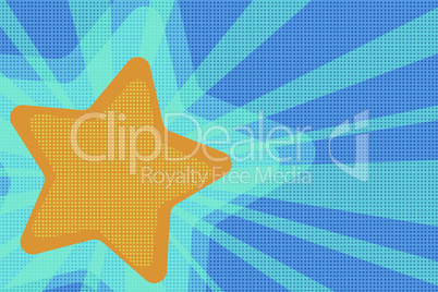 background yellow star pop art