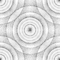 Abstract dot pattern. Geometric space ripple ornament.  Spot Cir