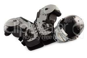 Chest protector with sports helmet