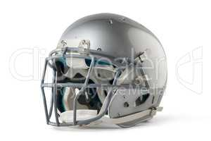 Close up of silver sports helmet