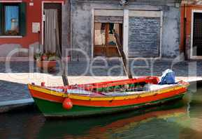 Motorboat in Burano