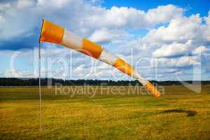 Windsock at airfield