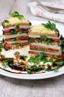 Appetizer from eggplant