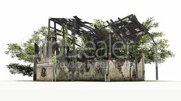 old dilapidated building - ruin