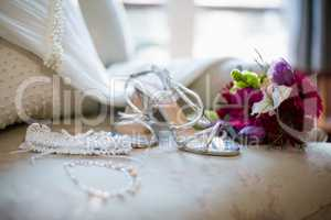 Wedding accesories on sofa
