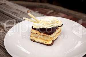 Creamy Italian tiramisu with a coffee flavored custard
