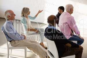 Ssenior people sitting on chair