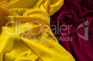 Close-up of American football jersey fabric