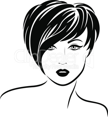 Fashion girl with short stylish hair