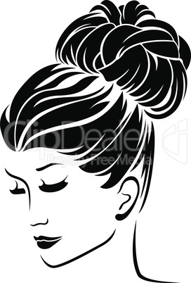 Fashion women with bun hairstyle hair