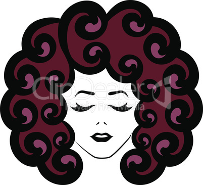 Girl with closed eyes and reddish hair
