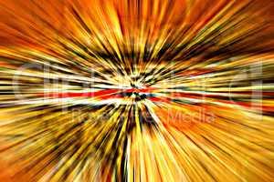 Explosion mit Strahlen