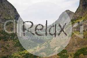 Valley And Mountain, Norway, Text Relax
