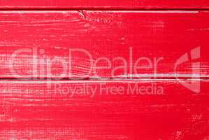 Red Wooden Slats Background With Copy Space