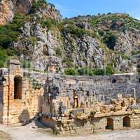 Ruins of Greco-Roman amphitheater