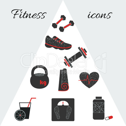 Geometric fitness icons