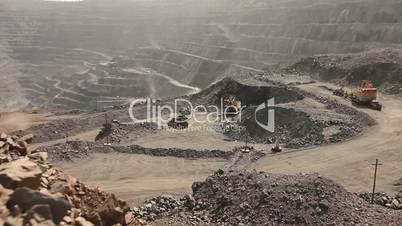 Panoramic view of the big ore mine