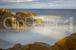 Coastal with rocks ,long exposure picture from Costa Brava, Spai
