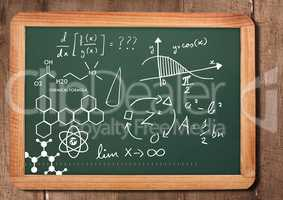 chemical science formula on blackboard