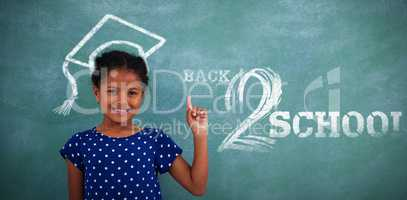 Composite image of back to school text on white background