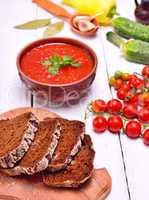 Sliced rye bread on a kitchen board,