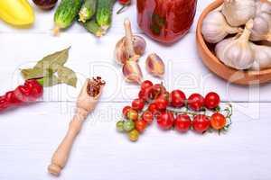 Branch of fresh red cherry tomato
