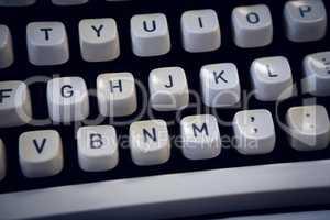 Full frame shot of typewriter