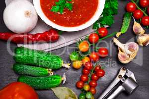 Fresh cherry tomatoes and cucumbers for cooking