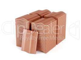 Stacks with roof tiles