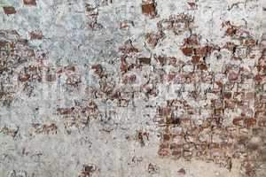 Brickwork with plaster