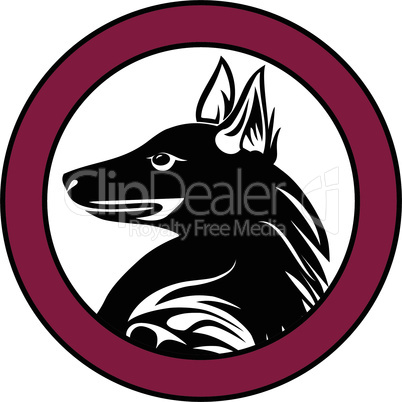 Dog animal pet sign tattoo vector.