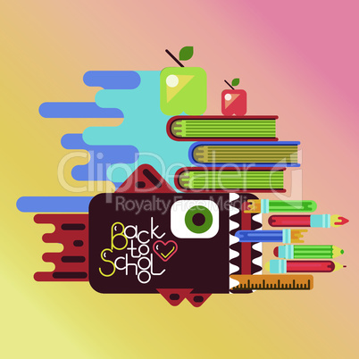 Education concept poster in flat style design