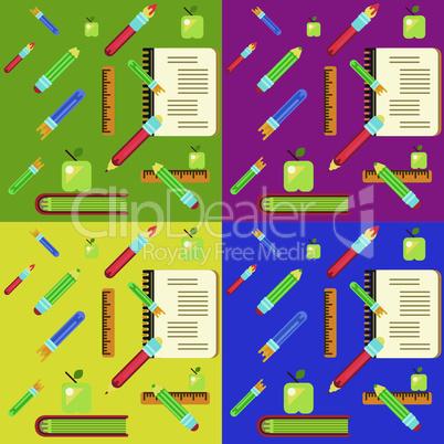 set of school pattern