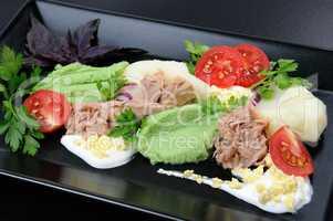 tuna with garnish
