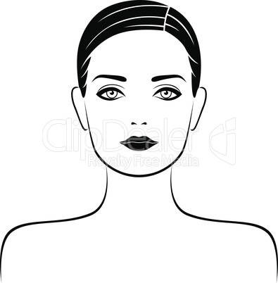 Abstract attractive female portrait