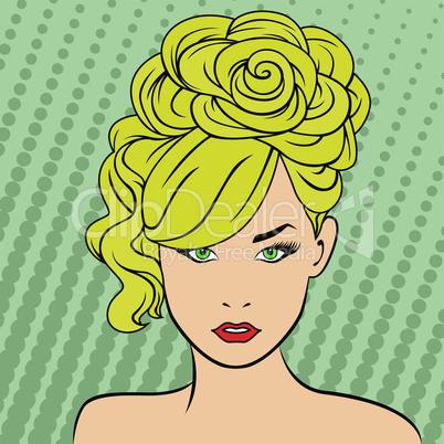 Bright blonde retro style