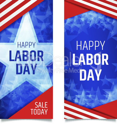 Labor day vertical banners.