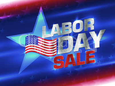 American labor day background