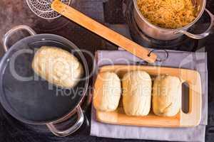 original Bohemian dumplings preparation.