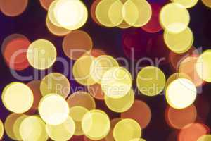 Retro Golden Lights Background, Party, Celebration Or Christmas Texture