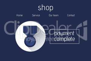 Online shopping with payment complete text interface